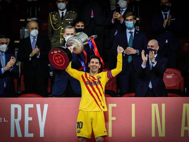 Messi habló tras conseguir su 36º título con elBarça