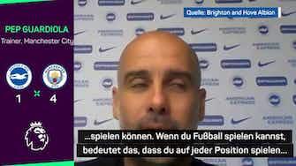 """Vorschaubild für Guardiola über Foden: """"Er ist noch immer so jung"""""""