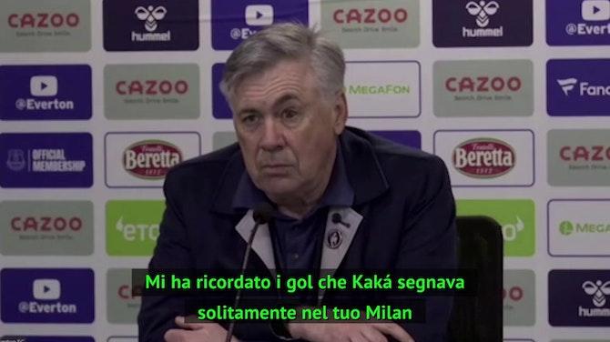 """Anteprima immagine per Ancelotti: """"Il gol di Sigurdsson? Ricordava quelli di Kaká"""""""
