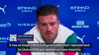 Preview image for Grealish admits he 'teared up' during Villa exit