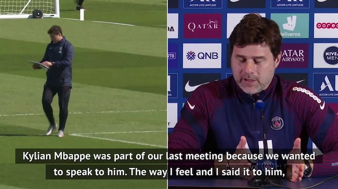 Preview image for PSG looked after Mbappe despite his calf injury - Pochettino