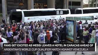 Preview image for Messi heads to Argentina training before World Cup qualifier against Venezuela