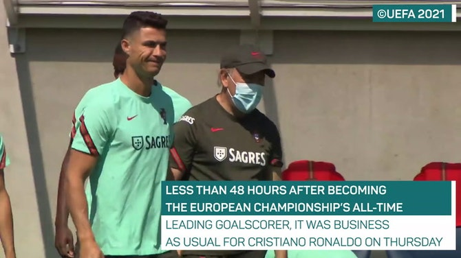 Back to business for record-breaking Ronaldo