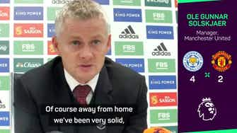 Preview image for United 'didn't earn right to win' against Leicester - Solskjaer