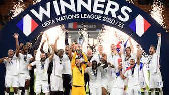 Vorschaubild für Held Mbappé: Weltmeister Frankreich auch Nations-League-Sieger