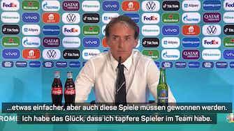 Vorschaubild für Mancini bremst Italien-Euphorie nach 3:0-Sieg