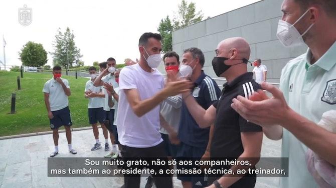 Busquets é reintegrado à seleção espanhola após quarentena