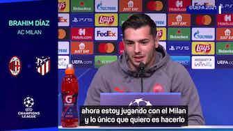 """Imagen de vista previa para Brahim Díaz: """"Vengo del Madrid, está claro que influye para jugar ante el Atlético"""""""