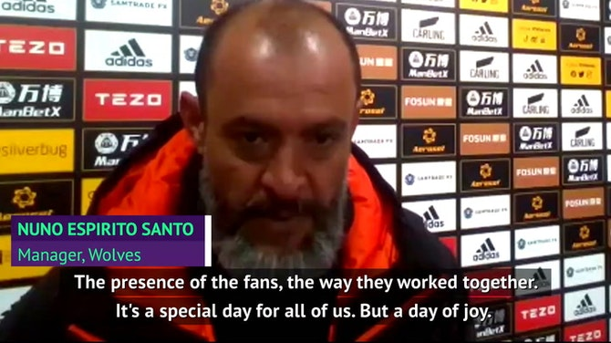 Preview image for Nuno proud of bond built with Wolves fans as he departs