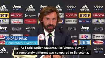 Preview image for Pirlo 'not worried' by Barcelona after disappointing Verona draw