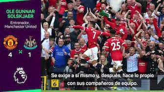 "Imagen de vista previa para Solskjaer: ""Cristiano sigue siendo un goleador despiadado"""