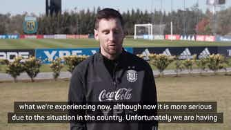 Preview image for Messi eager to play for Argentina despite coronavirus restrictions