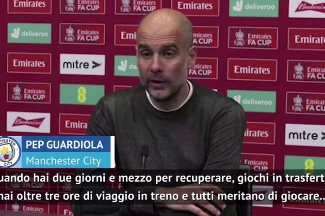 """Guardiola contro il giornalista: """"Non dire che non prendiamo sul serio il torneo..."""""""