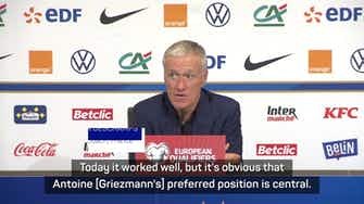 Preview image for Griezmann showed where he's most effective for France - Deschamps