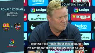 Preview image for Koeman refuses to comment on Barca future