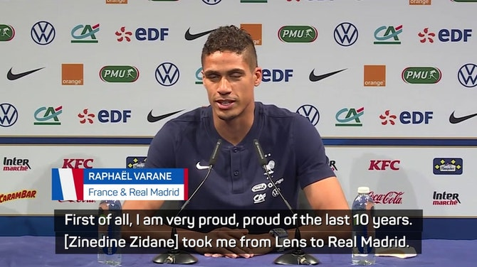 Preview image for Varane celebrates inspirational Zidane after Real Madrid exit