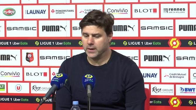 """Pochettino, sin paños calientes: """"No fuimos mejores que el Rennes"""""""