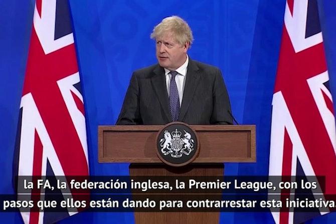 """Boris Johnson amenaza a la Superliga: """"Si es necesario, buscaremos una solución legislativa"""""""