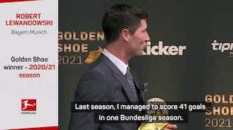 "Preview image for ""Proud"" Lewandowski receives Golden Shoe award"