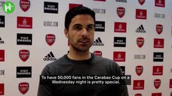 Preview image for Arteta praises fans for lifting performance levels of Arsenal players