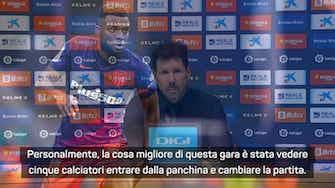 """Anteprima immagine per Simeone su Lemar: """"È in un gran momento. Abbiamo una rosa competitiva"""""""