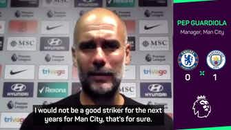 Preview image for Beaming Guardiola credits players after setting Man City wins record