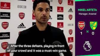 Preview image for Arteta hails best 15 days of career as Gunners get off the mark