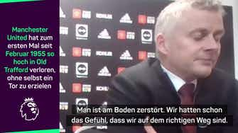 """Vorschaubild für Solskjaer nach Derby-Klatsche: """"Am Boden zerstört"""""""