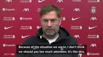 Preview image for Klopp will ignore scores elsewhere on final day