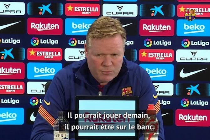 """36e j. - Koeman : """"Je compte sur Dembélé"""""""