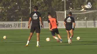 Imagem de visualização para Veja como foi último treino do Real Madrid antes do duelo com o Mallorca