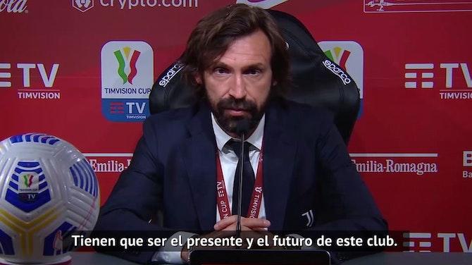 """Pirlo sobre Chiesa y Kulusevski: """"Son el presente y futuro de la Juventus"""""""