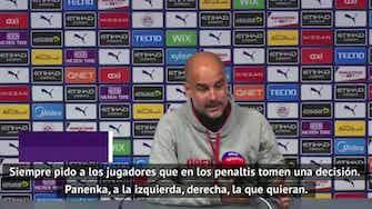 """Imagen de vista previa para Guardiola, sobre el panenka fallido de Agüero: """"Es egoísta porque lo falló. De haberlo marcado diríamos que es un genio"""""""