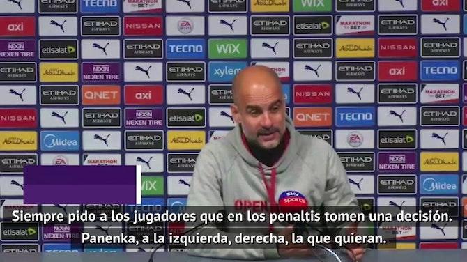 """Guardiola, sobre el panenka fallido de Agüero: """"Es egoísta porque lo falló. De haberlo marcado diríamos que es un genio"""""""