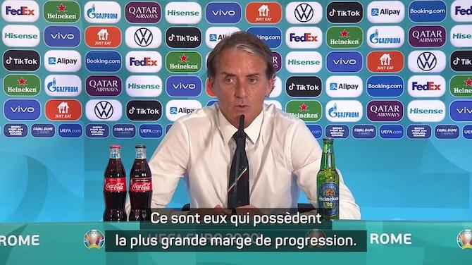 """Groupe A - Mancini : """"Nos jeunes joueurs ont encore une marge de progression"""""""