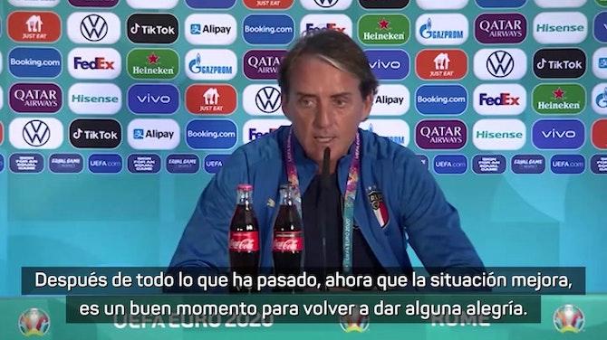 """Mancini: """"Es el momento de volver a dar alegrías"""""""