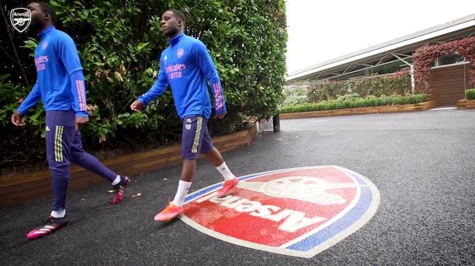 Arsenal treina para encarar o Crystal Palace no Inglês