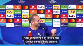 """Anteprima immagine per Chiellini: """"Non farò mai l'allenatore"""". E Allegri risponde..."""
