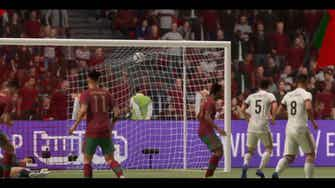 Image d'aperçu pour Doublé de Ronaldo contre la Belgique en 8es de l'Euro (FIFA)