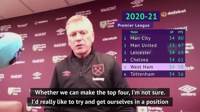 Moyes still dreaming of Europe after West Ham beat Burnley