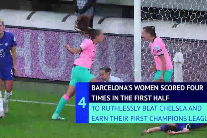 Barcelona crush Chelsea to win Women's Champions League