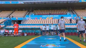 Preview image for Spain training ©️UEFA 2021