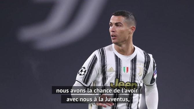 """Juventus - Pirlo : """"Nous avons de la chance d'avoir Ronaldo"""""""""""