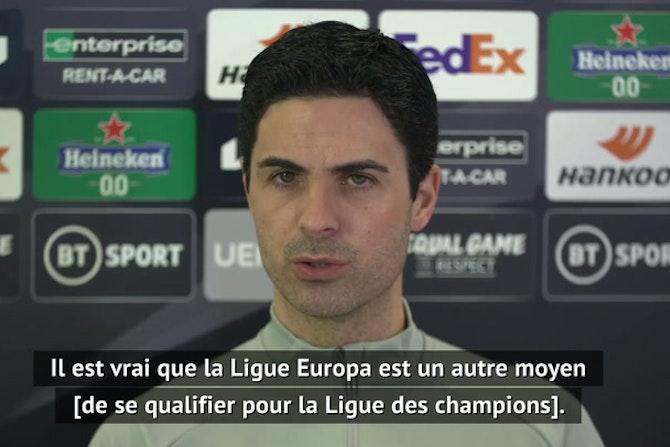 """16es - Arteta : Contre Benfica, """"c'est une finale"""""""