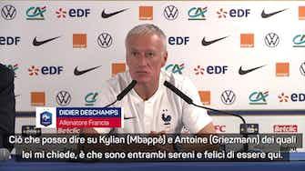 """Anteprima immagine per Deschamps e il mercato: """"Griezmann e Mbappè? A mezzanotte sapremo"""""""