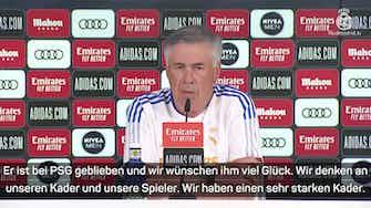 """Vorschaubild für  Ancelotti: """"Nicht enttäuscht"""" wegen Mbappe"""