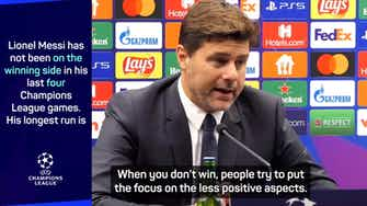 Preview image for  Pochettino defends star trio after they draw blank v Brugge