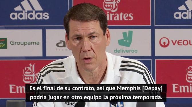 """Garcia: """"Depay podría jugar en otro equipo la próxima temporada"""""""