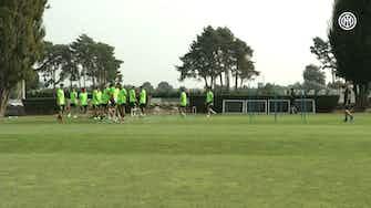 Imagen de vista previa para El entrenamiento del Inter antes del partido ante el Real Madrid