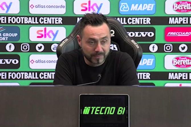 """De Zerbi: """"Non voglio giocare contro il Milan. Allora siamo noi i cog*****i..."""""""